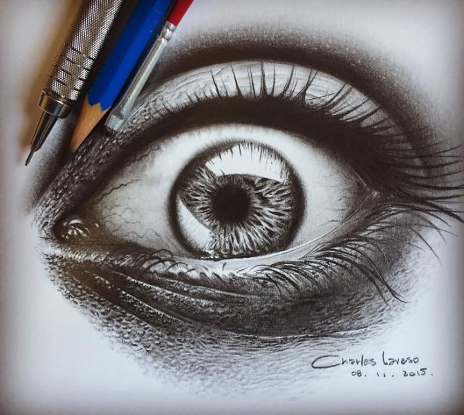 Desenhos Realistas feitos à lápis por Charles Laveso.