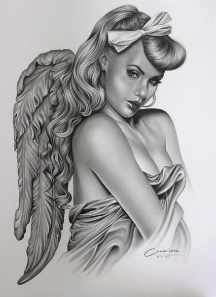 Desenho em grafite de Charles Laveso, Desenhos Realistas, Curso de Desenhos