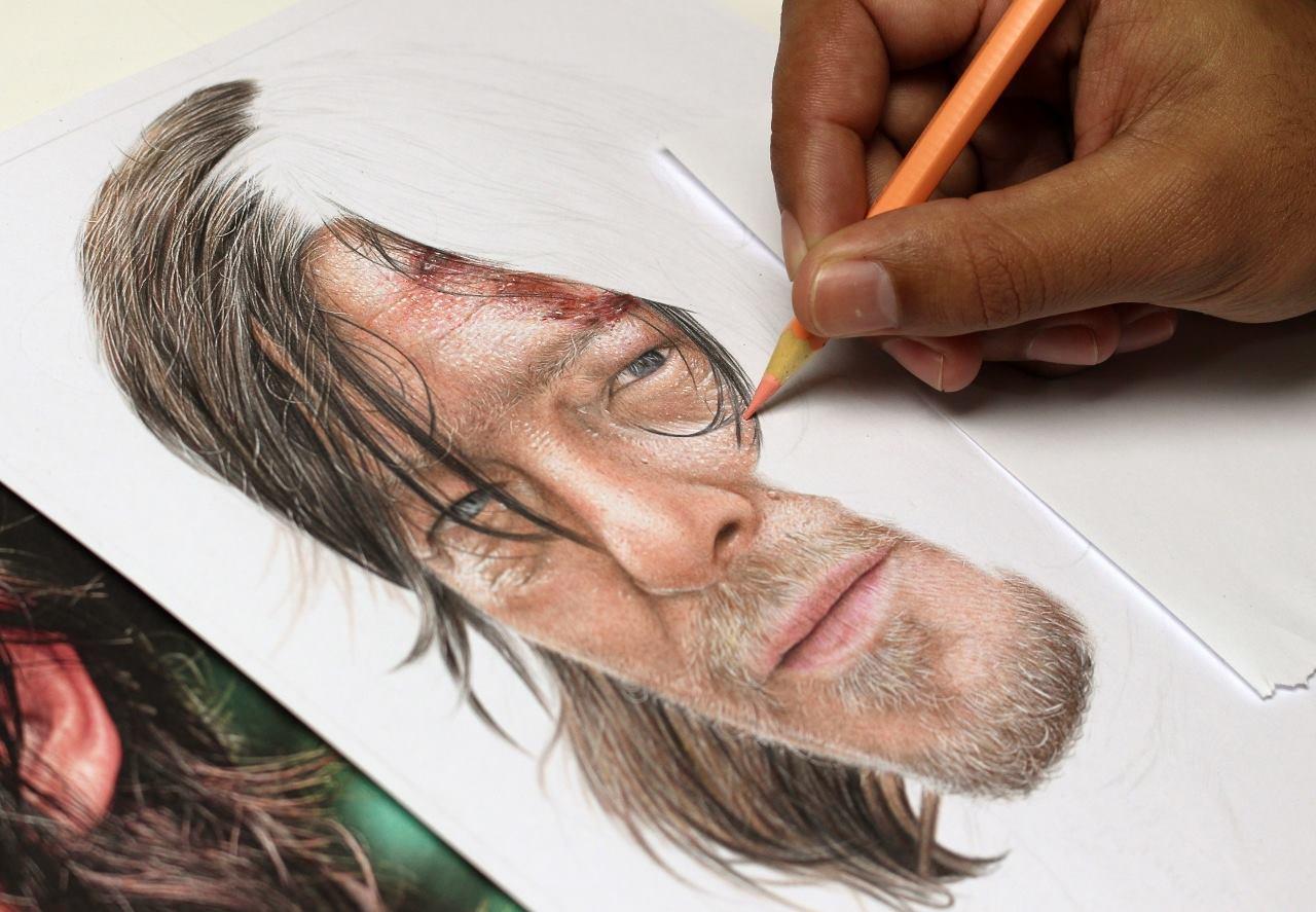 desenhos realistas coloridos