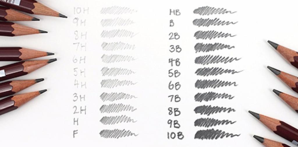 Lápis para desenho realista: gradações de lápis grafite