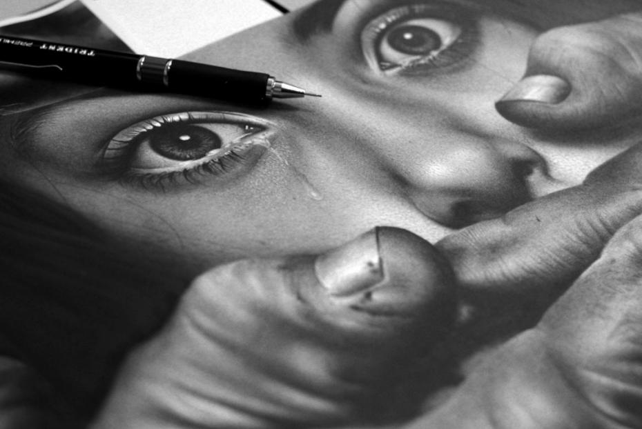 Desenho de Charles Laveso - Campanha contra estupro