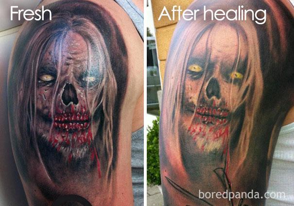 O problema com a tatuagem realista