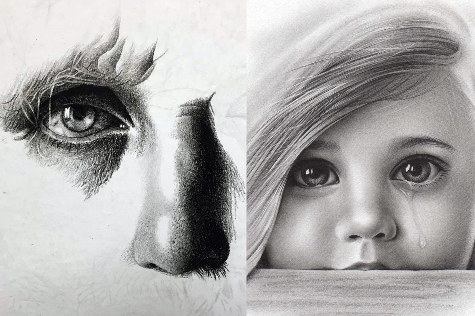 Como Fazer Textura De Pele No Desenho Realista